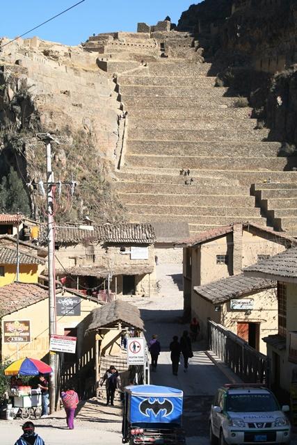 The Inca fort above Ollantytambo